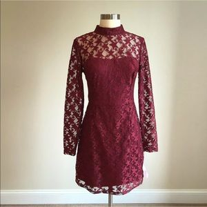 Betsey Johnson Star Illusion Lace Cocktail Dress